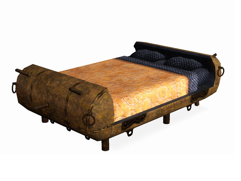 Shinokcr 39 s steampunk bedroom doublebed for Steampunk bed