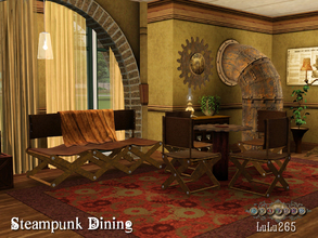Sims 3 — Fratres- Steampunk Dining by Lulu265 — A Steam-punk inspired dining area especially created for the Frates