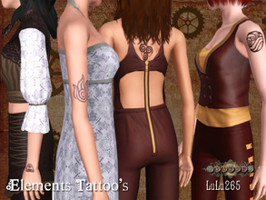 Sims 3 — Fratres- Steampunk Tattoos by Lulu265 — These Tattoos, inspired by Avatar were made especially for the Fratres