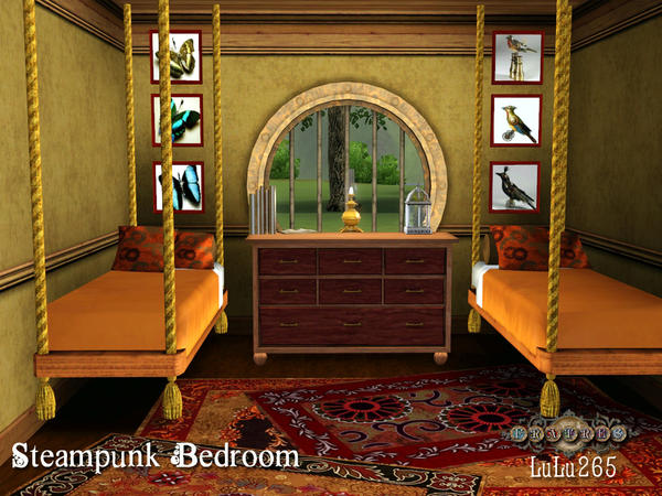 Lulu265 39 s fratres steampunk bedroom for Steampunk bed