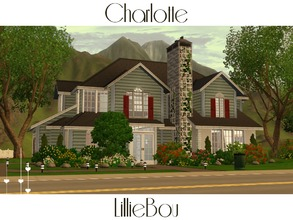 Sims 3 — Charlotte by lilliebou — This house is for a family of about 5 Sims. First floor: -Garage -Kitchen + Dining room