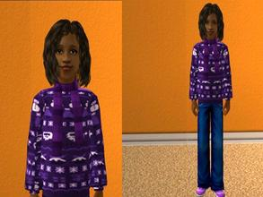 Sims 2 — Purple Christmas sweater by oldmember_lucianna882 — A bright and cheerful seasonal sweater for your Sim girls.