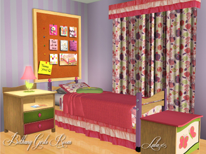 Sims 3 — Bethany Bedroom by Lulu265 — This is a complete mix and match bedroom for either a teen or child.The set