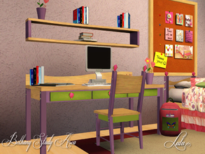 Sims 3 — Bethany Bedroom Study by Lulu265 — The study part of the Bethany girls room. This mix and matches to the girls