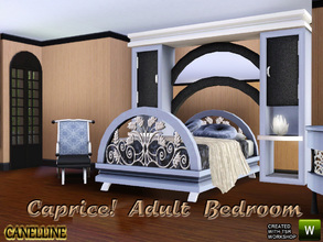Sims 3 — Caprice! Adult Bedroom by Canelline — Here's a bedroom where the neoclassical style will suit as well to modern