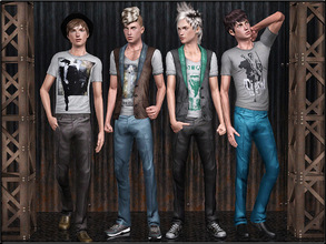 Sims 3 — MaleFashionSet3 by Shojoangel — Hi...set included a shirt, vest with shirt and pant...recolorable...Enjoy and