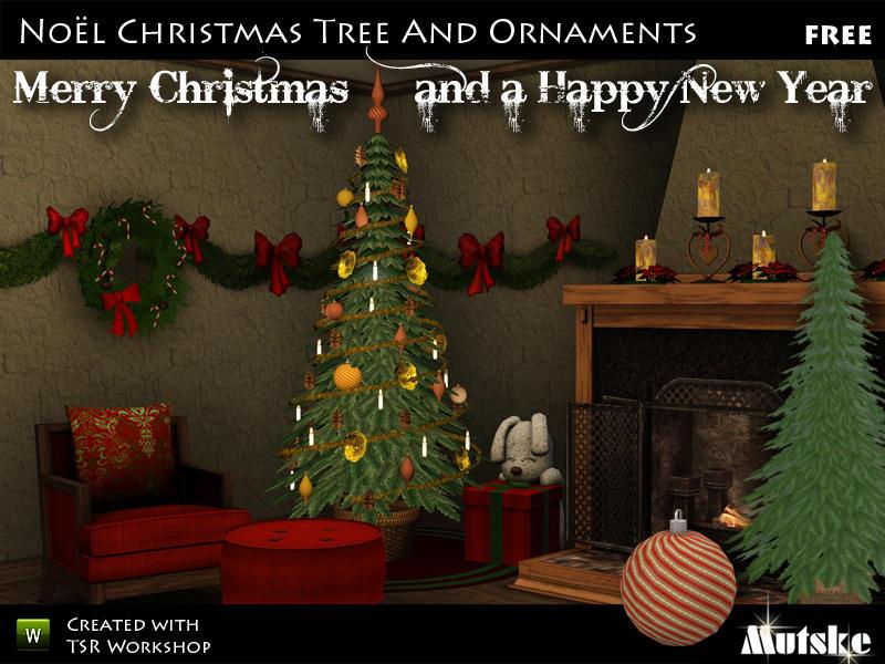 Christmas Decor Sims 3 : Mutske s christmas tree and decoration