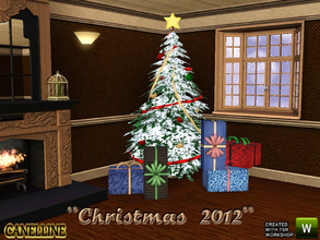 Sims 3 — Christmas 2012. Decor set. by Canelline — This set contains 3 little things to make your sims happy for this