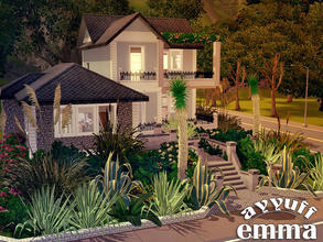 Sims 3 — Emma -Furnished- by ayyuff — 20x20 fully furnished and decorated house with 2 bedrooms,2 baths...