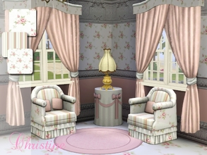 Sims 3 — Romantic Cottage Prints by cm_11778 — Lovely new cottage rose prints and stripes for your Sim homes. Happy