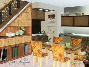 Sims 3 — Compact Kitchen by Lulu265 — This is a small compact Kitchen made to fit under the stairs, ideal for small sim