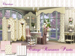 Sims 3 — Romantic Cottage Prints set 02 dv by cm_11778 — New romantic prints and stripes for your sim homes. Happy