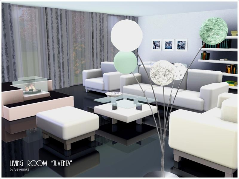 Severinka 39 s livingroom juventa for Modern living room sims 4