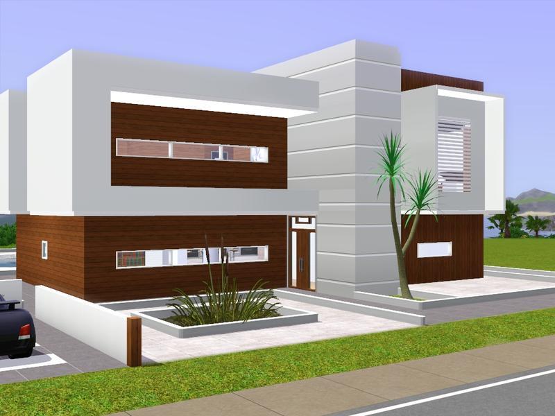 Gox35 39 s modern beach house 1000 for Modern house design the sims 3