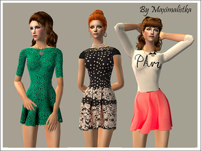 Sims 2 — French vacation by MAXImalistka — Everyday clothing for Female adult sims.