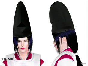 Sims 3 — Eboshi by 583 — 1. The hat of black lacquer worn by the gyoji presiding over a sumo match; 2. The high hat for