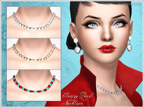 Sims 3 — Classy Pearl Necklace by Pralinesims — New glamorous pearl necklace 2 channels are recolorable. Recolorable in