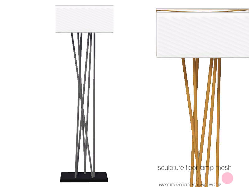 Awesome Sculpture Floor Lamp Mesh
