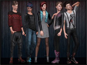 Sims 3 — ShoesSet3_Male--Female by Shojoangel — Hi!!! This set included 5 shoes, 2 for male and 3 for female...enjoy and