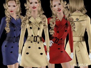 Sims 3 — Classic Trench Coat by simseviyo — A beautiful detailed trenchcoat.