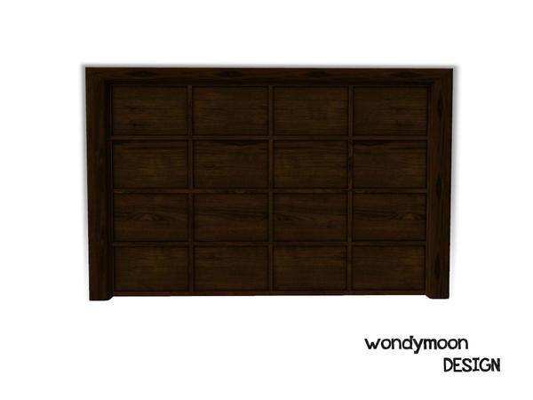 Wondymoon 39 s garage door close for Sims 4 garage