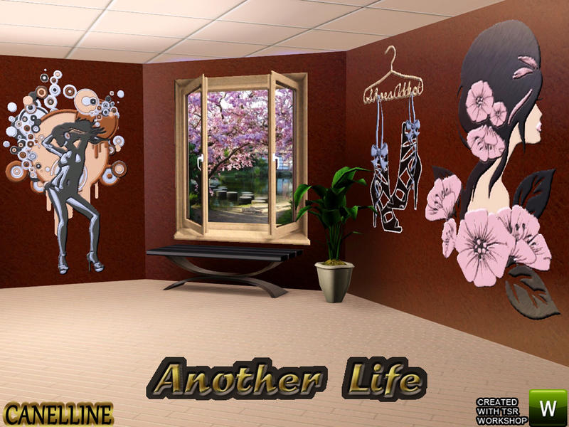 another life trompe l 39 oeil sticker 3 variations by canelline. Black Bedroom Furniture Sets. Home Design Ideas