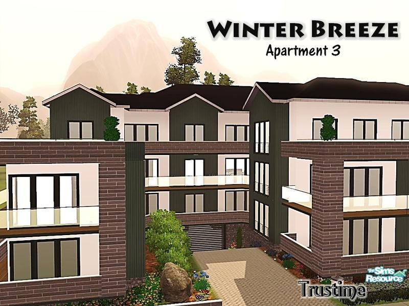 Trustime 39 s winter breeze apartment 3 for Apartment design sims 3