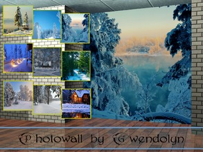 Sims 3 — GW_photowall_Snowy winter_9 items by Gvendolin2 — When it's cold outside, stay home especially nice! These