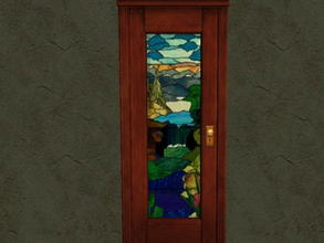 Sims 2 — Door Glass Recolors - 9 by zaligelover2 — Recolor for glass only of base game door.