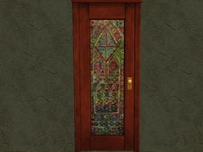 Sims 2 — Door Glass Recolors - 15 by zaligelover2 — Recolor for glass only of base game door.