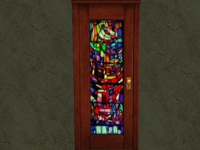 Sims 2 — Door Glass Recolors - 12 by zaligelover2 — Recolor for glass only of base game door.