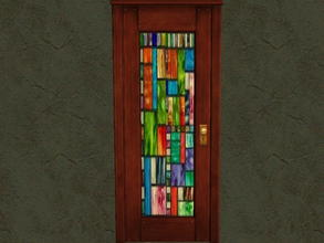 Sims 2 — Door Glass Recolors - 5 by zaligelover2 — Recolor for glass only of base game door.