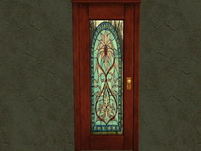 Sims 2 — Door Glass Recolors - 3 by zaligelover2 — Recolor for glass only of base game door.