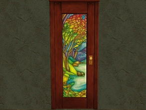 Sims 2 — Door Glass Recolors - 14 by zaligelover2 — Recolor for glass only of base game door.