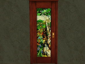 Sims 2 — Door Glass Recolors - 16 by zaligelover2 — Recolor for glass only of base game door.
