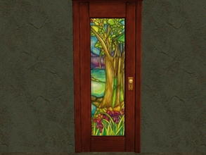 Sims 2 — Door Glass Recolors - 13 by zaligelover2 — Recolor for glass only of base game door.