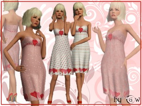 Sims 3 — tf body dress_be my Valentaine_by GW by Gvendolin2 — It's not necessary to tell about love...Put this dress on