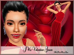 Sims 3 — JWu Valentine Gown by drteekaycee — This gow was inspired by the First Lady, Michelle Obama's Gown the day of
