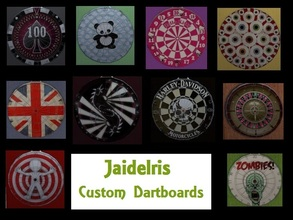 Sims 2 — JaideIris Custom Dartboards by Jaideiris2 — I saw that there weren\'t very many completely customized over