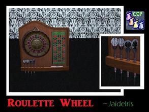 Sims 2 — JaideIris Custom Dartboards - Roulette Dartboard by Jaideiris2 — A casino roulette wheel dartboard recolor, with