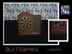 Sims 2 — JaideIris Custom Dartboards - Oldfashioned Dartboard by Jaideiris2 — An old fashioned corkboard recolor with