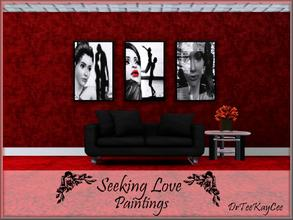 Sims 3 — Seeking Love by drteekaycee — These are paintings that touches the heart and warms a home. There are 3 pictures