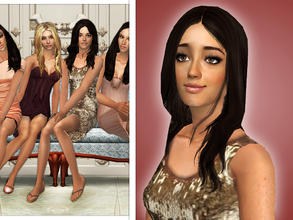 Sims 2 — Lucy Hale as Aria Montgomery by Cleotopia — Lucy Hale as Aria Montgomery in Pretty Little Liars