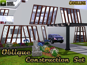 Sims 3 — Oblique Construction Set by Canelline — Here is a set that allows to modify the design of your sweet home, or to