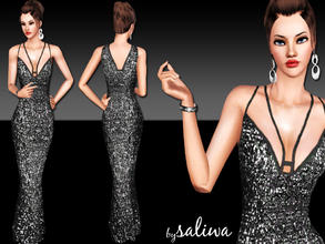 Sims 3 — Elegant Sequin Dress by saliwa — Quality Sequin Dress for your sims. You can recolor it.Enjoy.