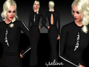 Sims 3 —  MCQ Elegant Dress  by saliwa — This is Kate Hudson's red carpet dress designed by MCQ and retouched by me. I