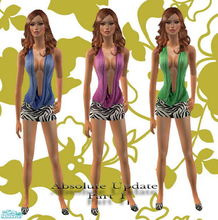 Sims 2 — Sexy Absolute Set by Harmonia — Hot colours with hot mini skirt..Sexy everyday outfits...for adult female