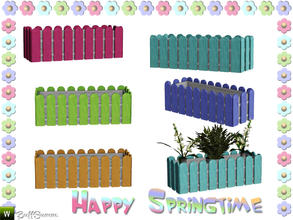 Sims 3 — Happy Springtime Flowerbox by BuffSumm — Decorative Set to bring the spring back :)