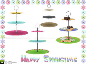 Sims 3 — Happy Springtime Etagere by BuffSumm — Decorative Set to bring the spring back :)