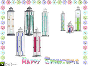 Sims 3 — Happy Springtime Latern 3 by BuffSumm — Decorative Set to bring the spring back :)
